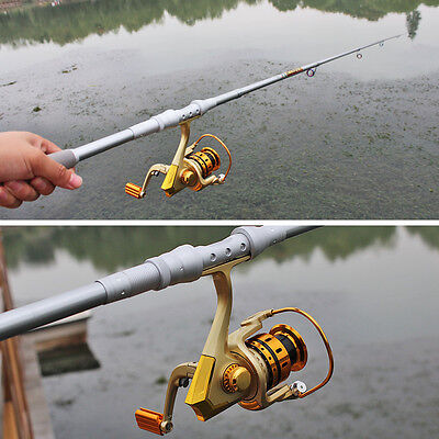 Fishing Tackle Rod Pole and Reel Bass Trout Fishing Tackles Combo Travel Set