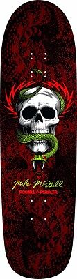 Powell Peralta Mike McGill SKULL AND SNAKE FUNSHAPE Skateboard Deck BLACK/RED
