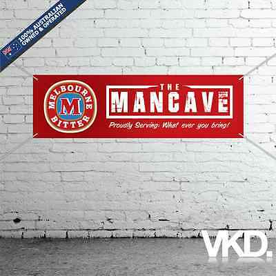 Melbourne Bitter Mancave Banner - Man Cave Bar New Personalised MB VB Beer Can