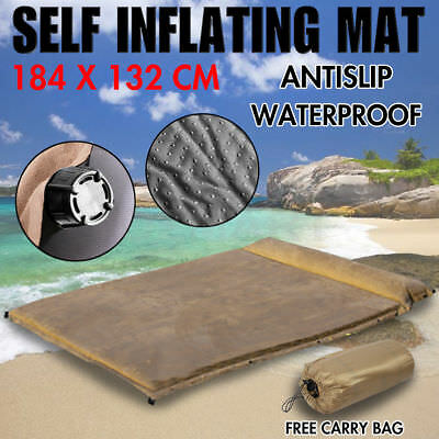 $75 Double Self inflating Mattress Sleeping Mat Air Pad Bed Camping Hiking AU