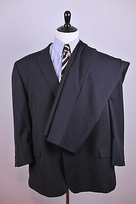 PRONTO UOMO Platinum Gray Wool Two Button Suit 60R Flat Front Pants 46x28 [t63]