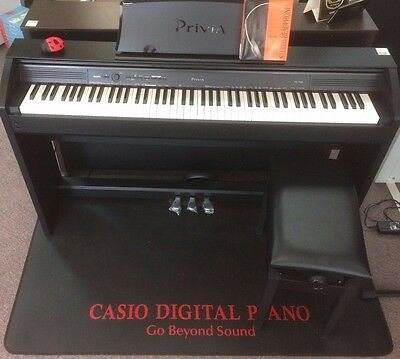 Casio PX-760 Black PRIVIA Pack Upgraded to an Adjustable Stool Digital Piano