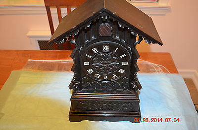 Antique Mantle/Shelf Cuckoo Clock CABINET ONLY for project or parts..