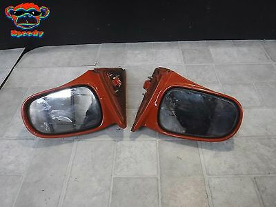 96 97 98 99 00 Honda Civic Power Side Mirror Rear View Set Pair 2Dr 3Dr Red