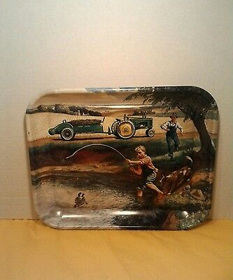 John Deere Metal Tray, collectable  Turtle Trouble