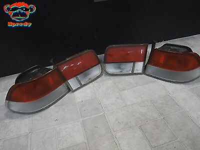 99 00 Honda Civic Rear Inner Outer Tail Light Taillight Set Of 4 Oem Coupe