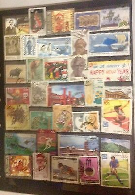 2 Pages, India, large,  all different, used stamps, excellent.