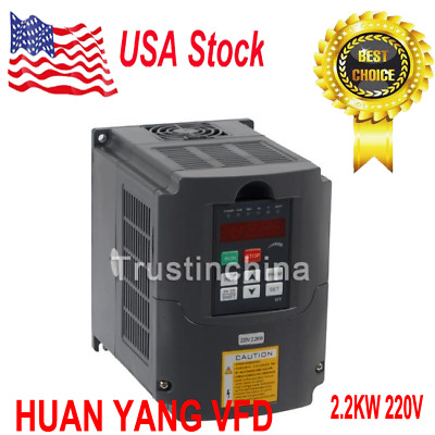 HY02D223B HY Series Usual Inverter VFD Inverter 220V 2.2kw 10A US Fast shipping