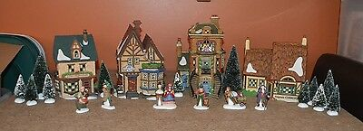 Department 56 ~ Dickens' Village Manchester Square ~ Set Of 24