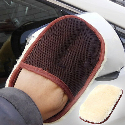Faux Wool Soft Car Wash Glove Cleaning Brush Auto Moto Washer Brushes Tool