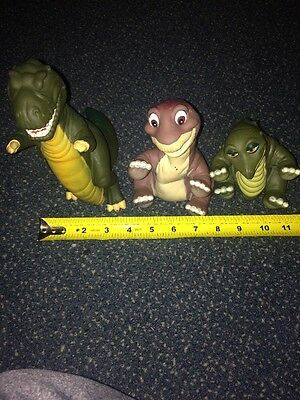 HTF LOT 3 Pizza Hut VINTAGE 1988 The Land Before Time HAND PUPPETS Vinyl SET