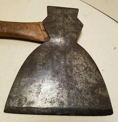 "Vtg B&M Stamped Railroad Anchor Plumb Brand  5 3/4"" Broad Hewing Hatchet Axe"