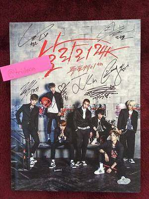 24K Super Fly 4th Mini Album KPOP Autographed By All Members Signed Authentic