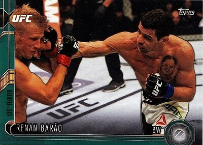 Renan Barao (#128) 2015 Topps UFC Chronicles Green Parallel 064/288. New.