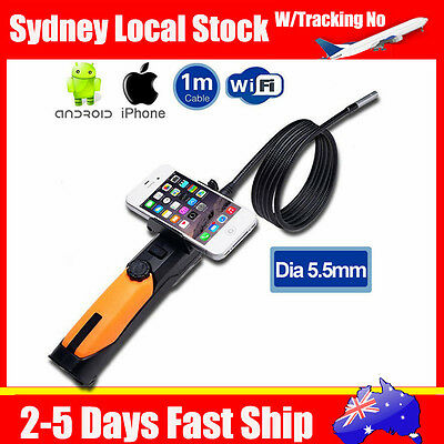 Wireless Dia 5.5mm WIFI Endoscope Snake Borescope Camera For Android iPhone 6s