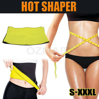 Hot Yoga Shaper Belt Slimming Fit Belly Waist Trimmer Fat Burn Sweat Body Shaper