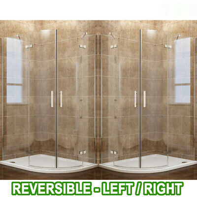Frameless Hinged Quadrant Shower Enclosure Door Cubicle Shower Tray Riser Kit