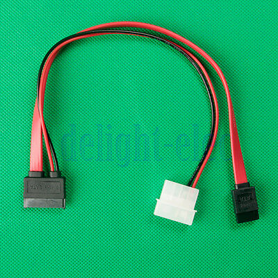 13(7+6) Pin Slimline SATA Cable for Slim SATA DVD Drive 2p power cable New DH