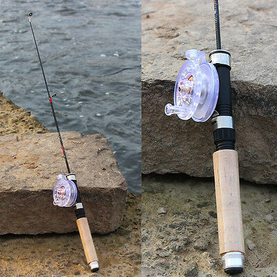 Ice Fishing Rod and Reel Combos Telescopic Portable Light Mini Pole with Reel
