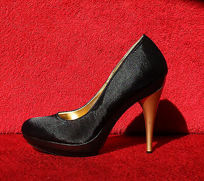 LAURA SCOTT DAMEN Plateau Pumps 12 cm Stiletto Stiletto cm High Heels Schwarz ... 9cb42c