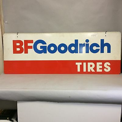 BF Goodrich Tires Porcelain Advertising Sign - 1977 Two-Sided