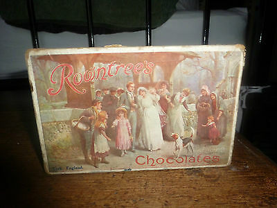 Rowntree's Rowntree Assorted Chocolate Box wedding scene antique old RARE!!!