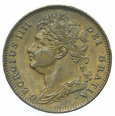Great Britian, George Iv Farthing, Nef, 1822