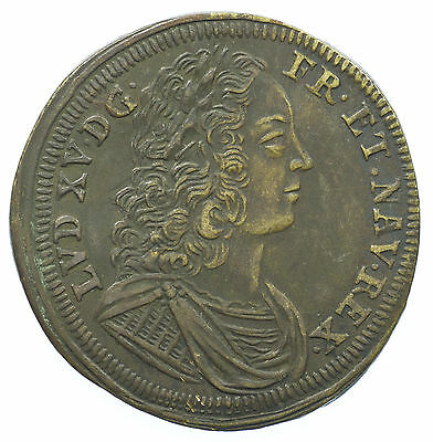 Jeton, Louis Xv, France, Michael Leichkavff, 27Mm, 1715-1774