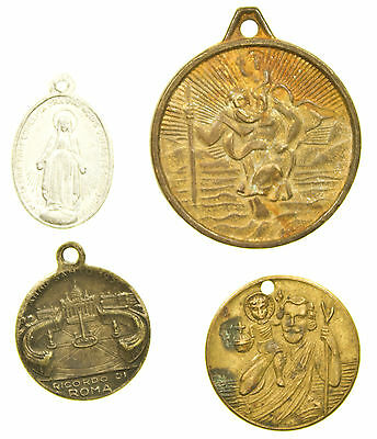 Medal, Collection Of 4 Religious Medalets, Christianity, 20Th Century