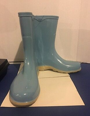 Womens Sloggers Rubber Boots Light Blue  Size 9 Nwt