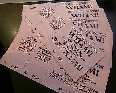 George Michael WHAM! Big Tour '84' One Concert Ticket from 15/12/1984