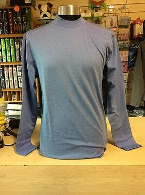 Under Armour Men's Base Layer Sky Blue XL fitted Long Sleeved