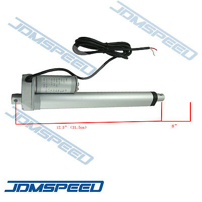New Heavy Duty Lineaer Actuator 8 Inch Stroke 225lb Max Lift Output 12V DC