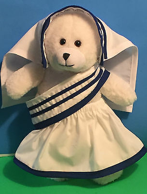 "Saint Teresa Bear/Mother Teresa Bear/ Mother Teresa Costume/ 12"" plush toy"