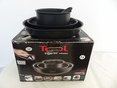 Tefal Ingenio Induction Frying Pan and Saucepan Set, 4 Piece