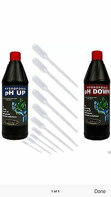 ph up and ph down 250ml bottles plus 10 pipettes.HYDROPONICS.GROW TENTS
