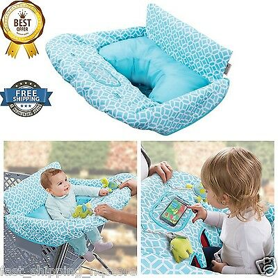 Grocery Cart Cover For Baby Cushy Summer Infant 2 in 1 Seat Positioner Diamonds