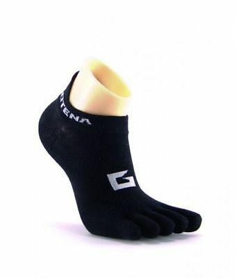 Gotena - low cut no show - five finger toe socks - black - sports socks - 1 pair