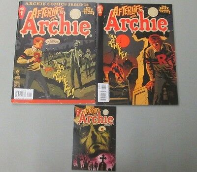 AFTERLIFE WITH ARCHIE MAGAZINE 1 2 PLUS MINI PRINT Archie Comics First Printing