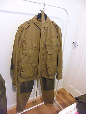 WW2 AIRBORNE REINFORCED M42 JUMPSUIT JACKET AND TROUSERS repro