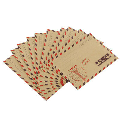 40pcs/Set Retro Random Airmail Kraft Paper Card letter Envelopes Travel Gift
