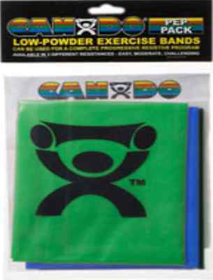 Cando® Low Powder Exercise Band Easy and Moderate