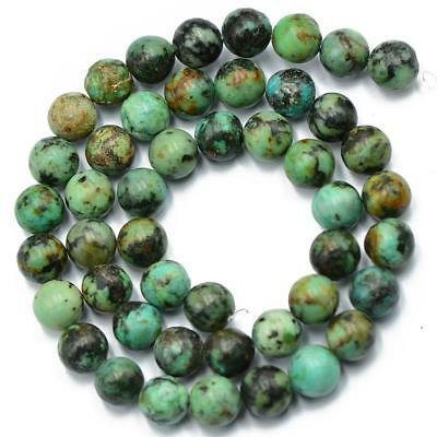 African Turquoise Beads Natural Gemstone Loose Beads 8mm Jewelry craft