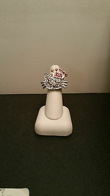 Hello Kitty STRETCH RING  SPARKLE, Head with Crown