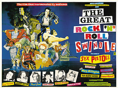 """The Great Rock Roll Swindle 1980 16"""" x 12"""" Reproduction Movie Poster Photograph"""