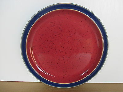 Denby Harlequin 2 x New 1st Quality Red/Blue Salad Plates Excellent Condition