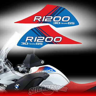 2 adesivi stickers serbatoio BMW 30 Years  R 1200 GS tank Adventure #01