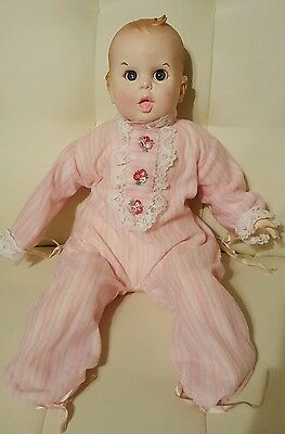 Vintage 1979 Gerber Baby Doll Pink Outfit
