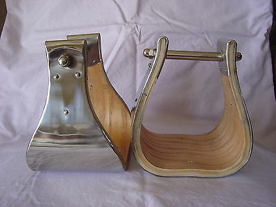 "5"" MONEL (Stainless) BELL STIRRUPS - USA MADE - A+++ EXCELLENT STIRRUPS!"