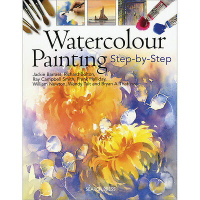 Search Press Books Watercolor Painting Step By Step SP-4386